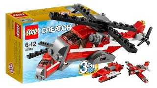LEGO Creator 31013 Helicopter Red Thunder 3 in 1 Toys VIDEO FOR CHILDREN