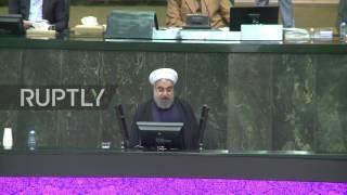 Iran: MPs chant 'Down with USA' as Rouhani condemns Senate sanction renewal