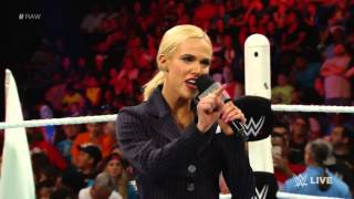Lana stands up against Rusev & Summer's Relationship - WWE -  Raw, July 27, 2015