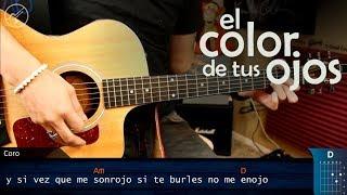 Como tocar el Color de tus Ojos BANDA MS en Guitarra   Tutorial Christianvib