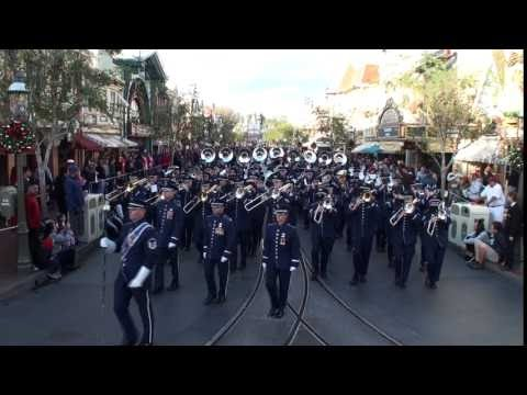 watch United States Air Force Total Force Band - Disneyland Flag Retreat Ceremony - January 2017