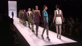 Elena Slivnyak and models walk the runway at Project Runw...