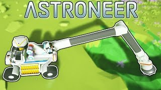 Crane Truck and Drill! - Astroneer [Ep.3] - Let's play Astroneer Gameplay