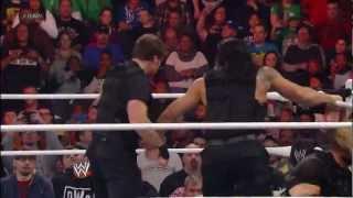 Ryback vs The Shield - Randy Orton Returns - WWE Raw 12/31/12