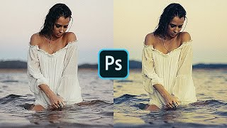 BLEND IF Photoshop Tutorial | Cinematic COLOR GRADING