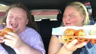 Two rednecks trying KFC's CHEETOS CHICKEN SANDWICH (food review)