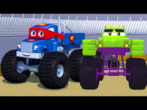 Carl the Super Truck and the Monster Truck Hulk in Car City | Cars &Trucks Cartoons fo Kids 🚗️