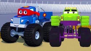 Carl the Super Truck and the Monster Truck Hulk in Car City | Cars &Trucks Cartoons fo Kids 🚗️