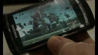 Se film på väggen med mobilen
