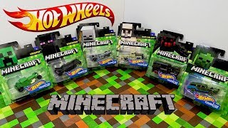 Unboxing Hot Wheels Minecraft Character Car Series