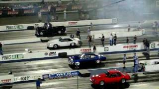 4 wide drag racing for Pinks All Out at Zmax Dragway VII
