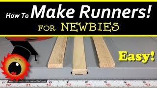 Easy! Make Runners for Table Saw Sleds!