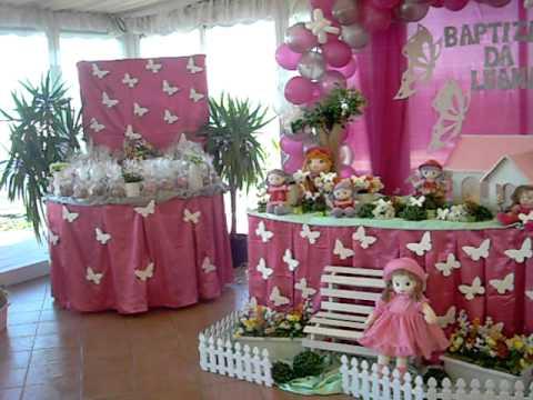 Decoração da festa borboleta bonecas