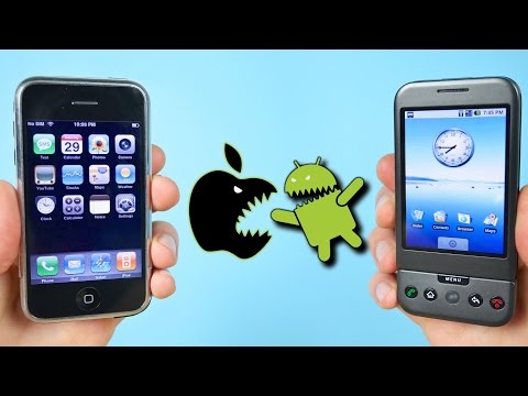 First iPhone vs First Android Phone iOS 1.0 vs Android 1.0