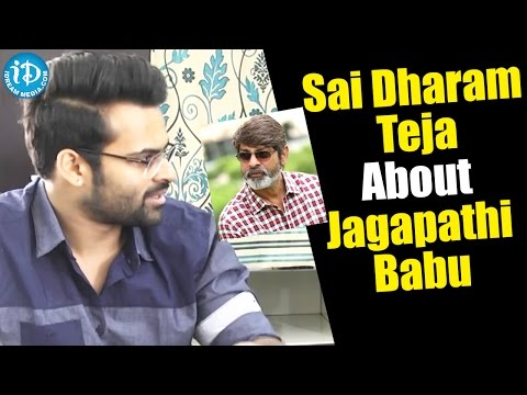 Sai Dharam Teja About Jagapathi Babu || #Winner || Special Interview