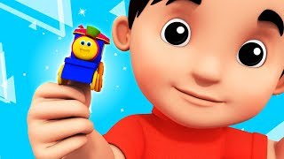 Where Is Thumbkin | Learning Street With Bob The Train | Kids Shows | Cartoons Videos by Kids Tv