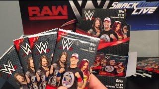 WWE Topps 2017 box break! Crazy Autograph pull!