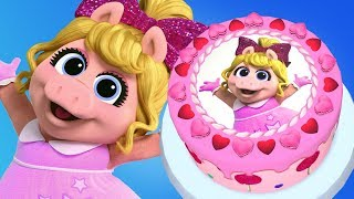 Disney Junior Muppet Babies Miss Piggy Birthday Cake Game - Cooking Real Cake Maker 3D App For Kids
