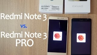 Xiaomi Redmi Note 3 (Mediatek Helio X10) vs. Xiaomi Redmi Note 3 PRO (Snapdragon 650)