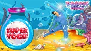 Cosmic Kids Yoga    SUPER YOGA! - GAME 1   Fun Games For Kids