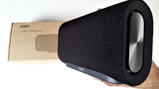 Powerful Aukey Eclipse Portable Bluetooth Speaker 20W with Dual Subwoofers