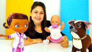 #Bebekbakmaoyunu - Ayşe Gül ile parkta bulduğu köpeği doktor 👩⚕️  Mcstuffins