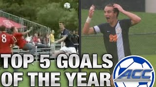 Top 5 Goals of the Year in ACC Soccer