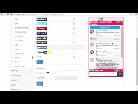 Free chat room code for my website chatbox HTML5