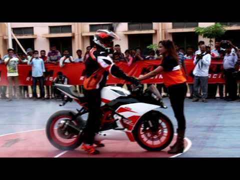 KTM stunt show Anantapur || DFG Stunt Riding || KAIZEN Automotives || Duke 250 Launch