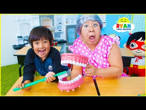 Back To School Ryan Pretend Play Learning Brush Teeth and Healthy Choices