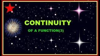 CONTINUITY OF FUNCTION--3 IN (हिंदी ) FOR csir net/gate/iit jam/ b.sc/M.SC./