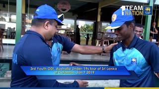 Thaveesha, Sudeera and Praveen makes their Under 19 Debuts