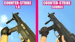 Counter-Strike Source Gun Sounds vs Counter-Strike 1.6