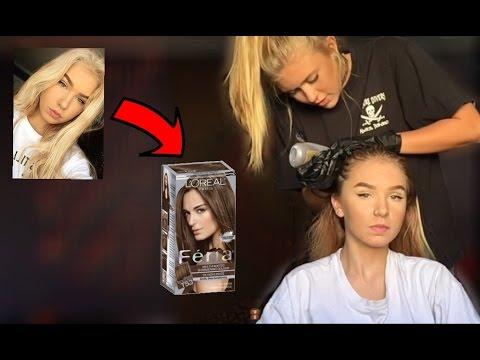 BLEACH BLONDE to BRUNETTE Hair Transformation