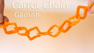 Amazing Carrot Chain Carving (must see)
