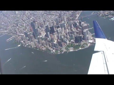 Fantastic Bird s eye View of New York City Landing in LaGuardia