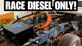 FUEL CELL INSTALL For The 6.7 CUMMINS Drag Race Truck Build!!