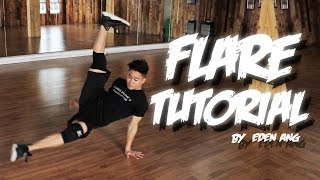 Bboy Tutorial I HOW TO FLARE I Different Way of Learning Flare I by EDEN ANG *with BAHASA SUBTITLE*