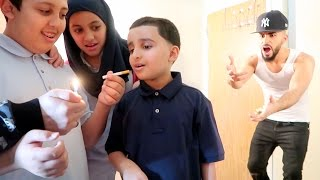 KIDS SMOKING CIGARETTES PRANK!!!