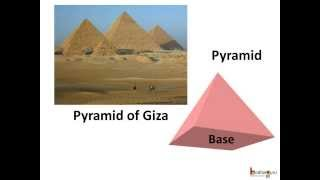 Maths - Nets of Solid Shape - Pyramid - Englsih