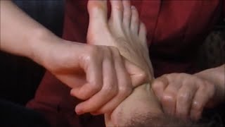 Chinese Foot Leg Massage with Relaxing Voice - ASMR video - POV