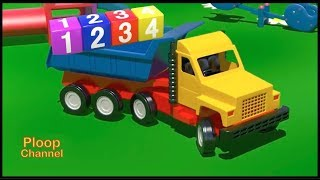 Learn Numbers Playground - TRUCK & LOADER - Construction Cartoon Compilations - Cartoons for Kids