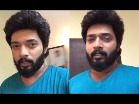 Sembaruthi Serial Aadhi (Karthikraj) 1st Live  Instagram || Zee Tamil