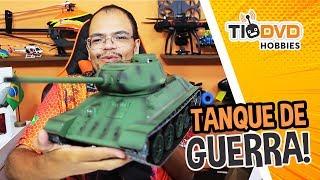 TANQUE DE GUERRA INCRÍVEL! AIR SOFT Heng Long 3909-1 T-34/85 RUSSIAN ARMY TANK