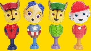 Paw Patrol on Superhero Popping Toys