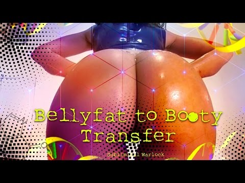 Transfer Belly fat to Buttocks Naturally! Subliminal Frequencies Hypnosis Binaural Beats Spell