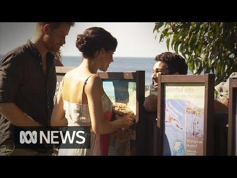 Prince Harry and Meghan visit Fraser Island