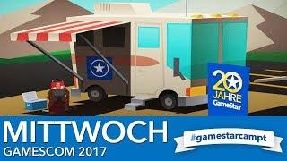 Gamescom 2017 - Stream am Mittwoch - Spiele & Gäste bei #GameStarCampt