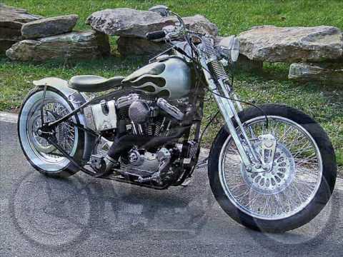 BAD THING Hardtail Harley Davidson Sportster Springer Bobber