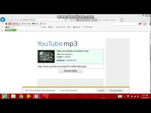 easy way to make youtube videos an mp3!